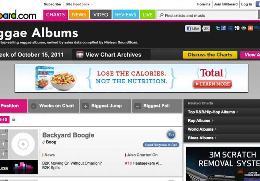 J Boog's Backyard Boogie Debuts #1 on Billboard Reggae Chart