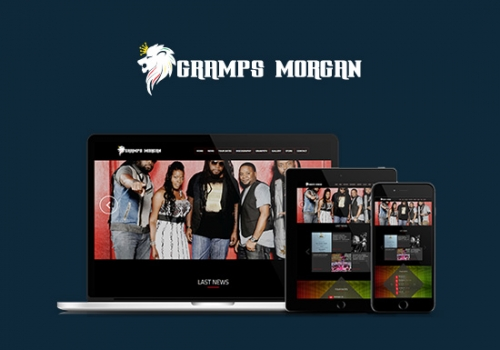 Gramps Morgan Music website development & Branding